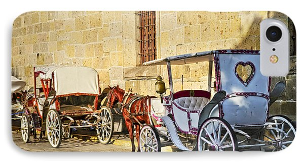 Horse Drawn Carriages In Guadalajara Phone Case by Elena Elisseeva
