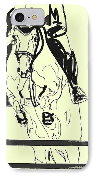 Horse-jumping Phone Case by Go Van Kampen