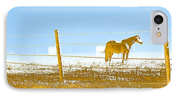 Horse Pasture Revblue Phone Case by Paulette B Wright