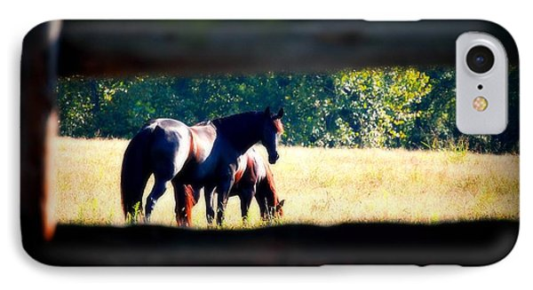 IPhone Case featuring the photograph Horse Photography by Peggy Franz