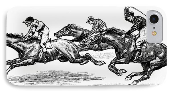 Horse Racing, 1900 Phone Case by Granger