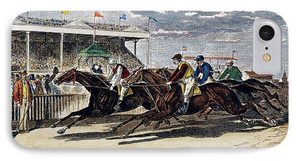 Horse Racing, Ny, 1879 Phone Case by Granger
