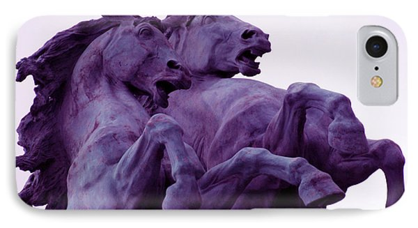 Horse Sculptures IPhone Case by Angel  Tarantella