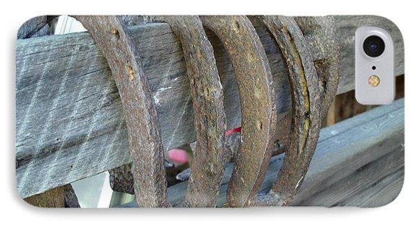 Horse Shoes IPhone Case by Kerri Mortenson
