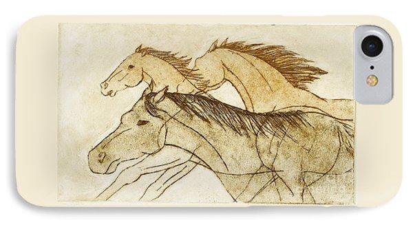 Horse Sketch IPhone 7 Case by Nareeta Martin