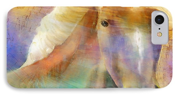 Horse With The Golden Mane Phone Case by Arline Wagner