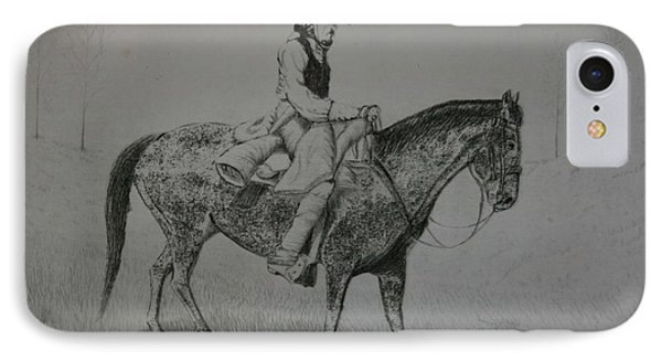 Horseman IPhone Case by Stacy C Bottoms