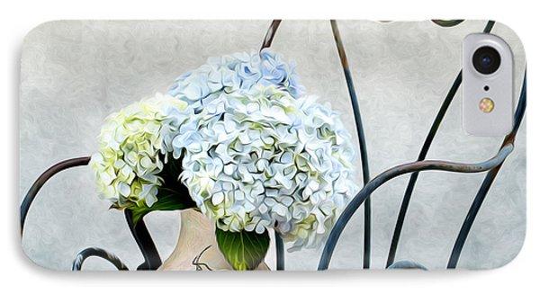 Hortensia Flowers IPhone Case by Nailia Schwarz