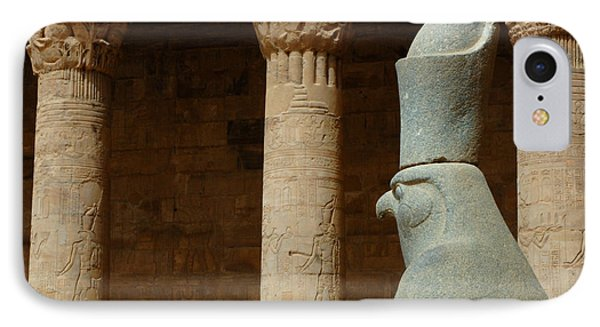 Horus Temple Of Edfu Egypt IPhone Case by Bob Christopher