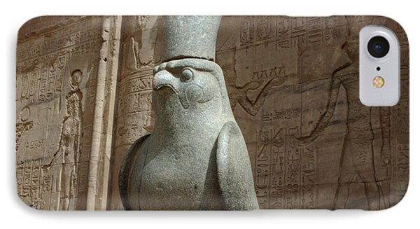 Horus The Falcon At Edfu IPhone Case by Bob Christopher