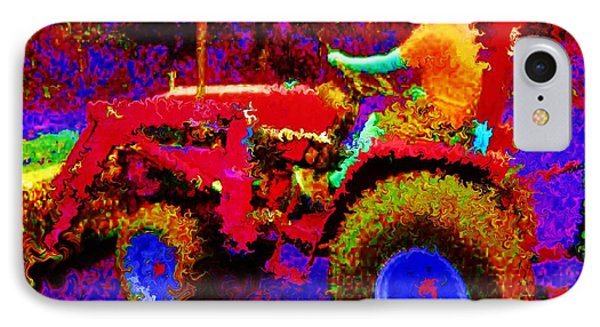 IPhone Case featuring the photograph Hot Afternoon On A John Deere Tractor by George Pedro