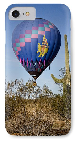 Hot Air Balloon Flight Over The Lush Arizona Desert Phone Case by James BO  Insogna