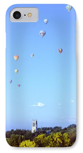 Hot Air Balloons Over Omaha Phone Case by John Bowers