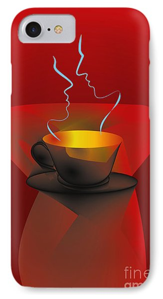 IPhone Case featuring the digital art Hot Coffee by Leo Symon