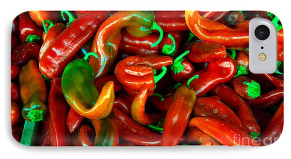 Hot Peppers Phone Case by Robert Bales