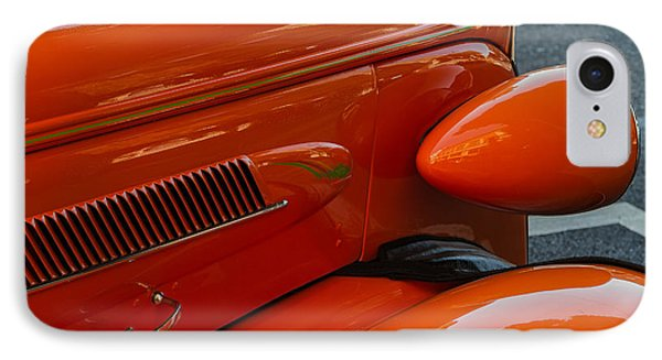 Hot Rod Orange IPhone Case by Ken Stanback