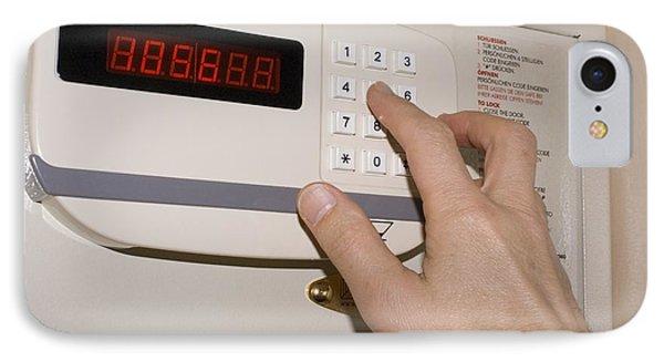 Hotel Safe Keypad. Phone Case by Mark Williamson
