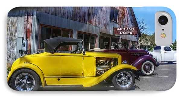 Hotrods At The Trader IPhone Case by Tyra  OBryant