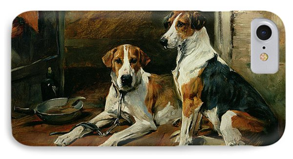 Hounds In A Stable Interior Phone Case by John Emms