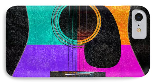 Hour Glass Guitar 4 Colors 2 Phone Case by Andee Design