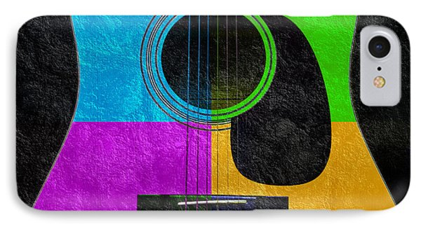 Hour Glass Guitar 4 Colors 3 Phone Case by Andee Design
