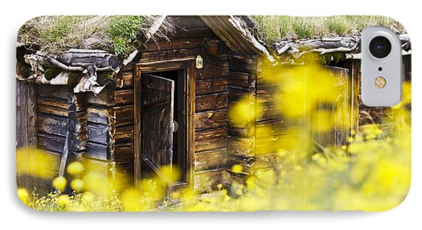 House Behind Yellow Flowers Phone Case by Heiko Koehrer-Wagner