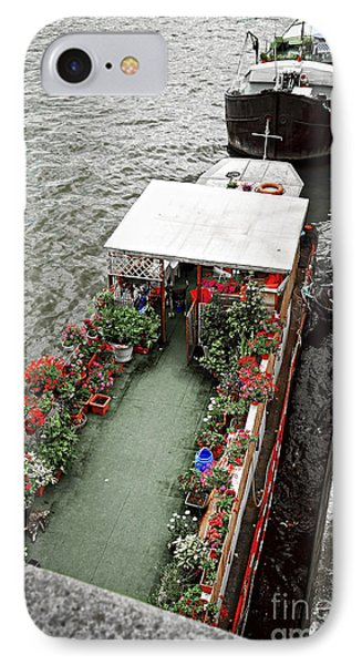 Houseboats In Paris IPhone Case by Elena Elisseeva