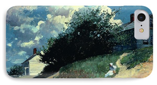 Houses On A Hill Phone Case by Winslow Homer