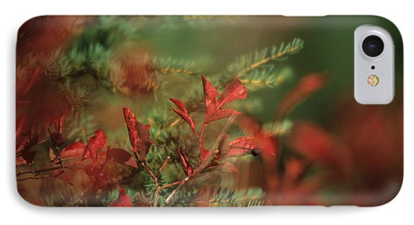 Huckleberry Leaves In Fall Color Phone Case by One Rude Dawg Orcutt