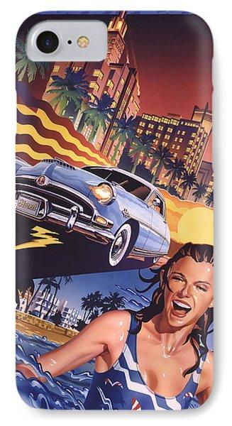 Hudson Hornet On Miami Nights IPhone Case by Garth Glazier