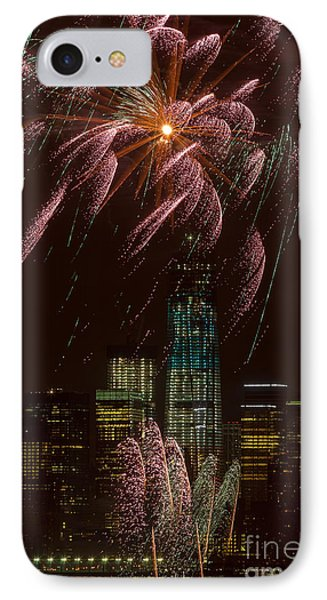 Hudson River Fireworks X IPhone Case by Clarence Holmes