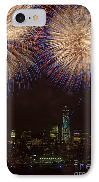 Hudson River Fireworks Xi Phone Case by Clarence Holmes
