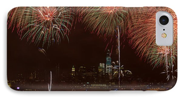 Hudson River Fireworks Xii Phone Case by Clarence Holmes