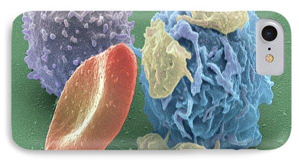 Human Blood Cells, Sem Phone Case by Steve Gschmeissner