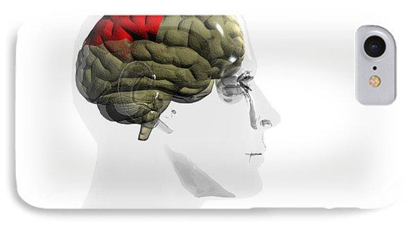 Human Brain, Parietal Lobe Phone Case by Christian Darkin