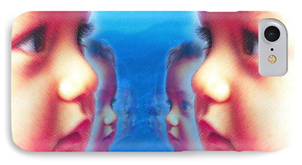 Human Cloning, Conceptual Artwork IPhone Case by Hannah Gal