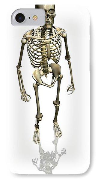 Human Skeleton, Artwork Phone Case by Friedrich Saurer