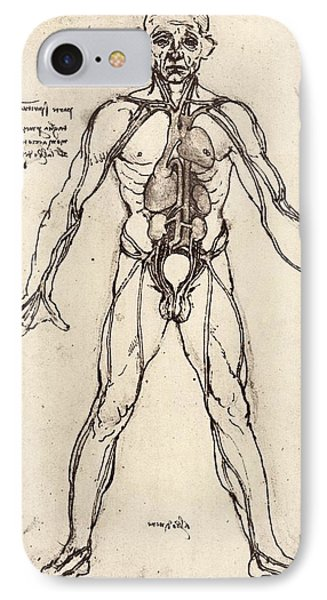 Human Venous System Phone Case by Sheila Terry