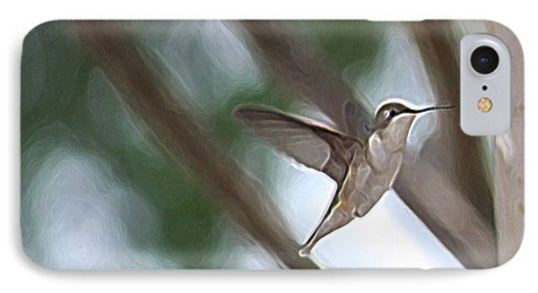 IPhone Case featuring the photograph Hummingbird by Donna  Smith