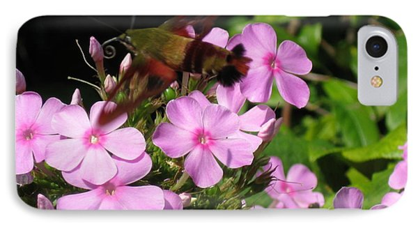 IPhone Case featuring the photograph Hummingbird Moth  by Nancy Patterson