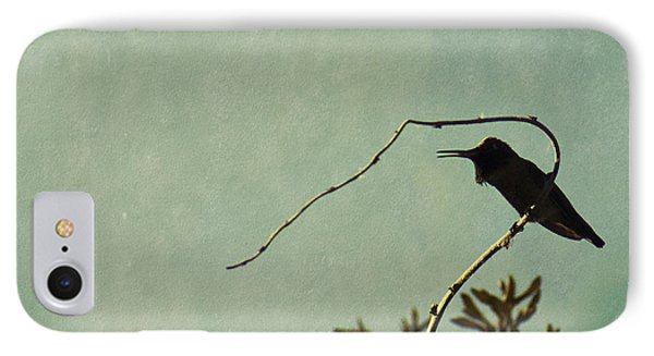 Hummingbird On Winter Wisteria IPhone Case by Cindy Garber Iverson