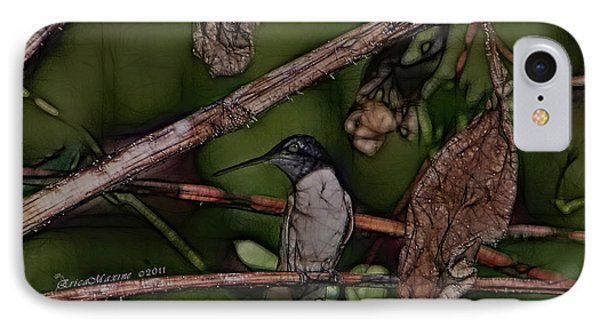 Hummingbird Waiting For Dinner IPhone Case by EricaMaxine  Price