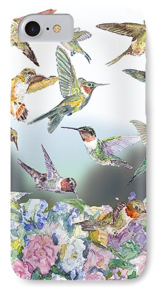 Hummingbirds Galore IPhone Case by Barry Jones