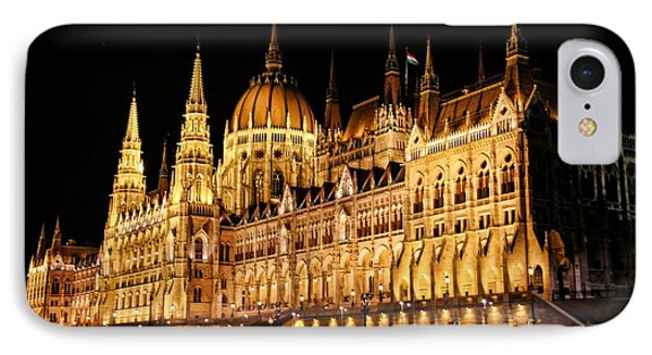 Hungarian Parliament Building Phone Case by Mariola Bitner