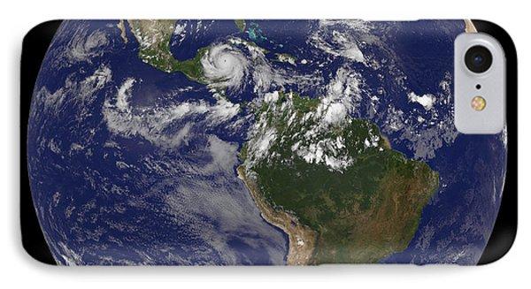 Hurricane Dean Approaches Yucatan IPhone Case by Stocktrek Images