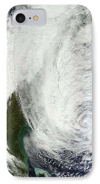 Hurricane Sandy Off The Southeastern Phone Case by Stocktrek Images