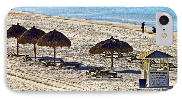 Huts On The Beach Phone Case by Susan Leggett