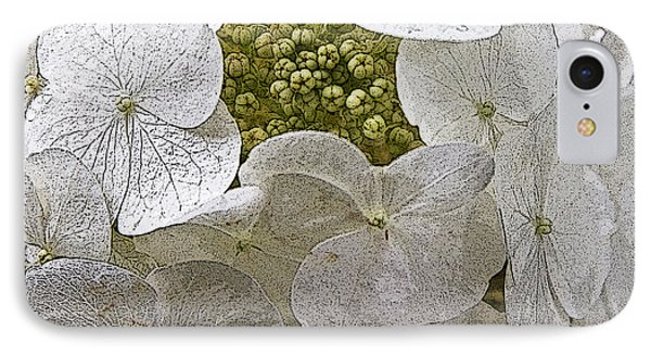 IPhone Case featuring the photograph Hydrangea by Michael Friedman