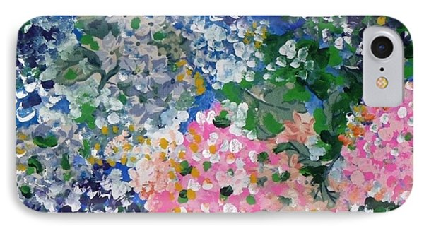 IPhone Case featuring the painting Hydrangeas I by Alys Caviness-Gober