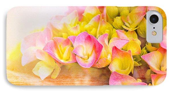 Hydrangeas In Bloom Phone Case by Elaine Manley